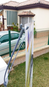 Detalle soporte lona para exterior