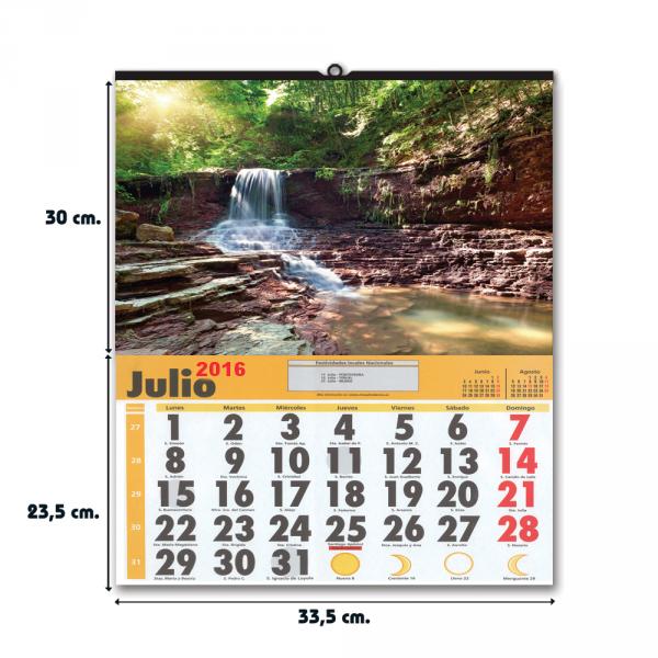 Calendario con faldilla grande