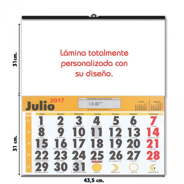 Calendario Grande.Calendario De Pared Extragrande