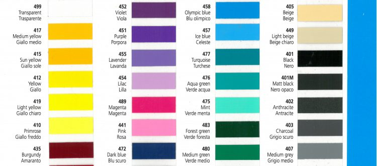 Carta colores vinilo rotulacion ritrama serie 400
