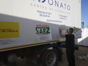 Rotulacion de camion para autoescuelas