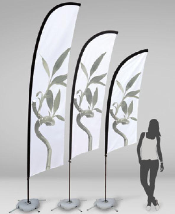 medidas bandera playa surf