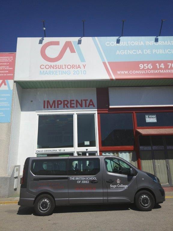 Rotulacion de furgoneta en Jerez